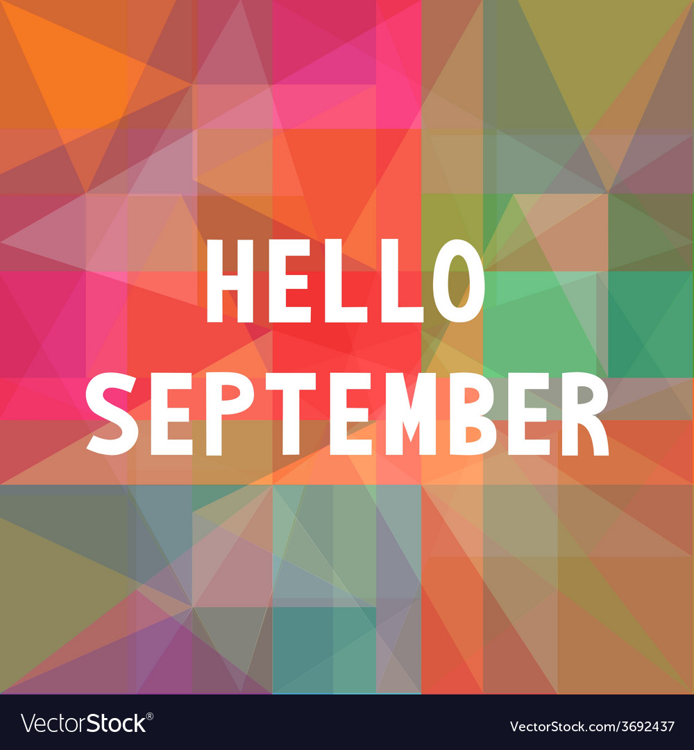 Hello september card1 vector