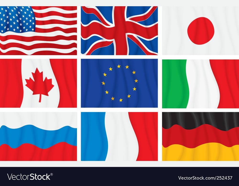 Wavy flags vector