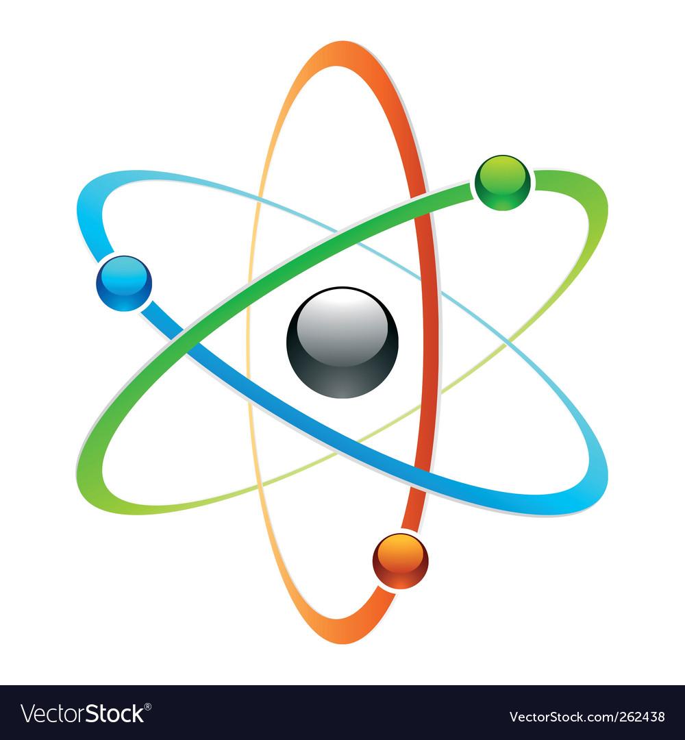 Atom symbol vector