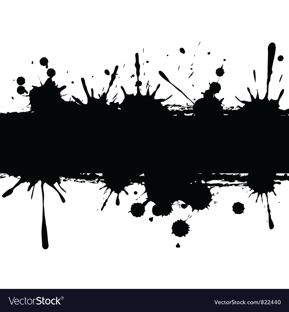 Background with ink strip vector