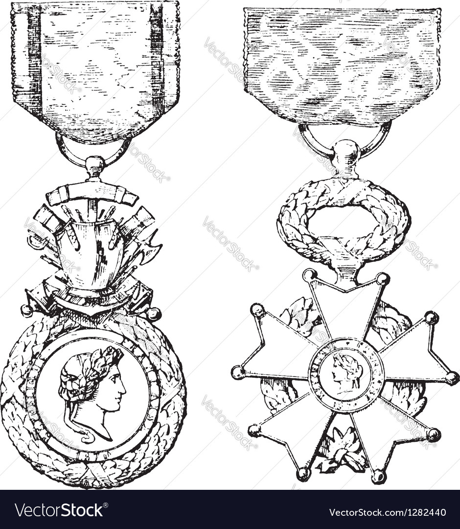 Medal legion of honor vector