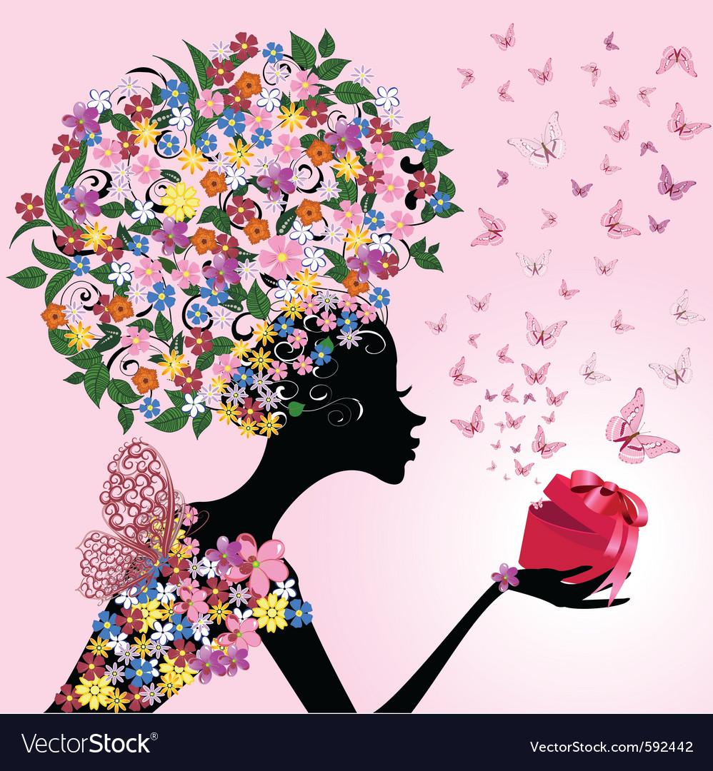Romantic gift vector