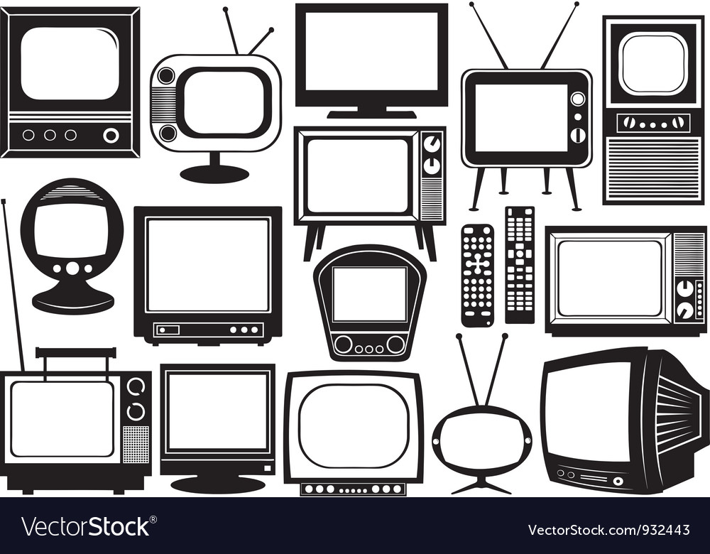 Tv set collage vector