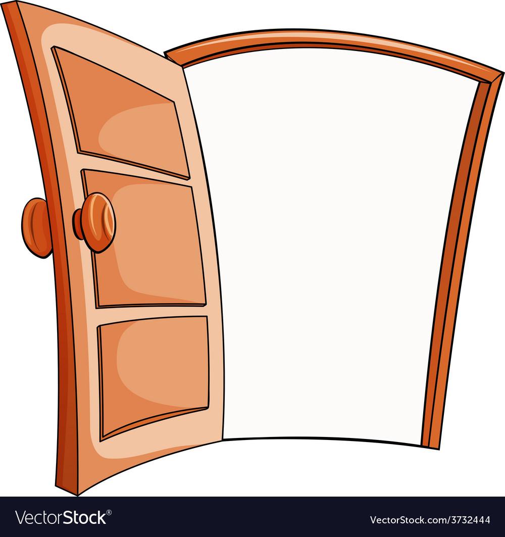 An open door vector