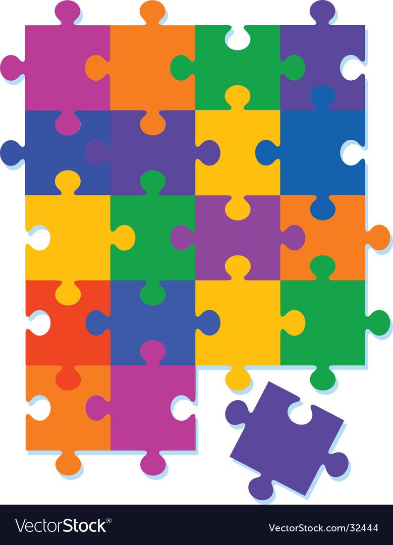 Jigsaw pattern background vector