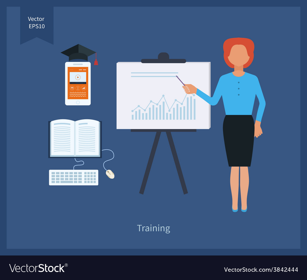 Online education and training vector