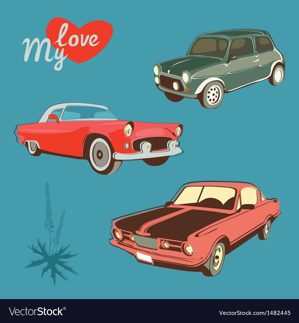 Retro autos vector