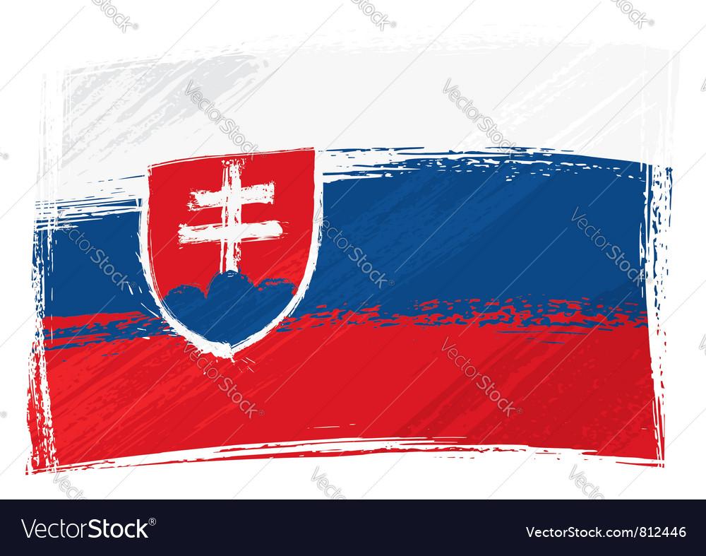 Grunge slovakia flag vector