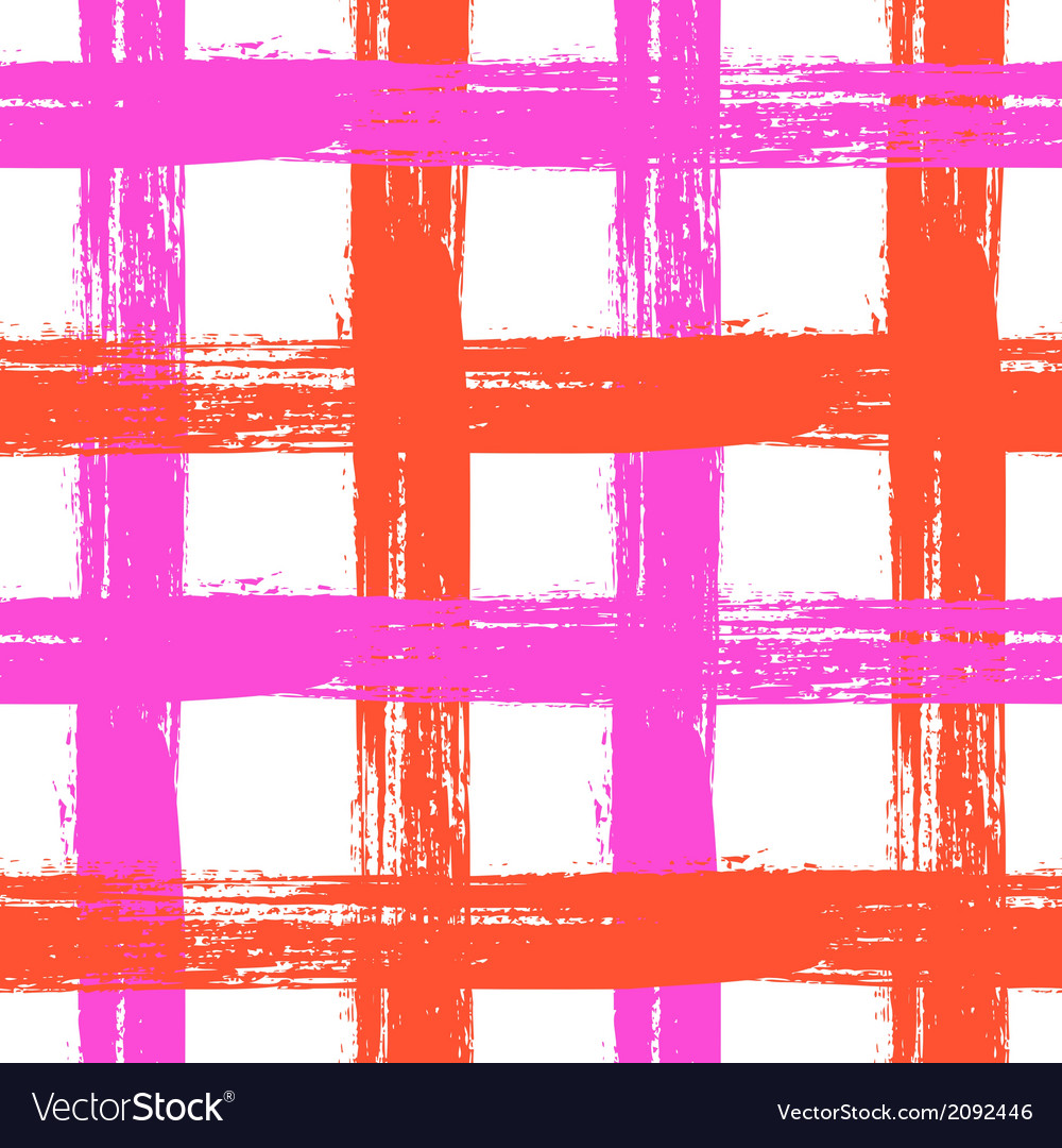 Plaid pattern with crossing wide stripes in bright vector