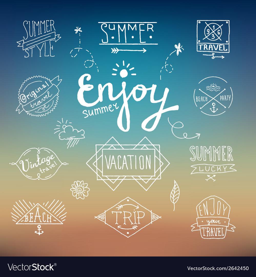 Summer vintage label vector