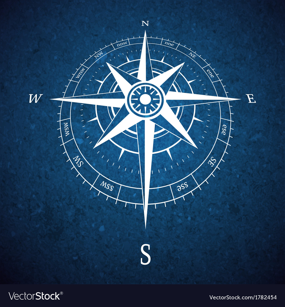 Compass road sign vector