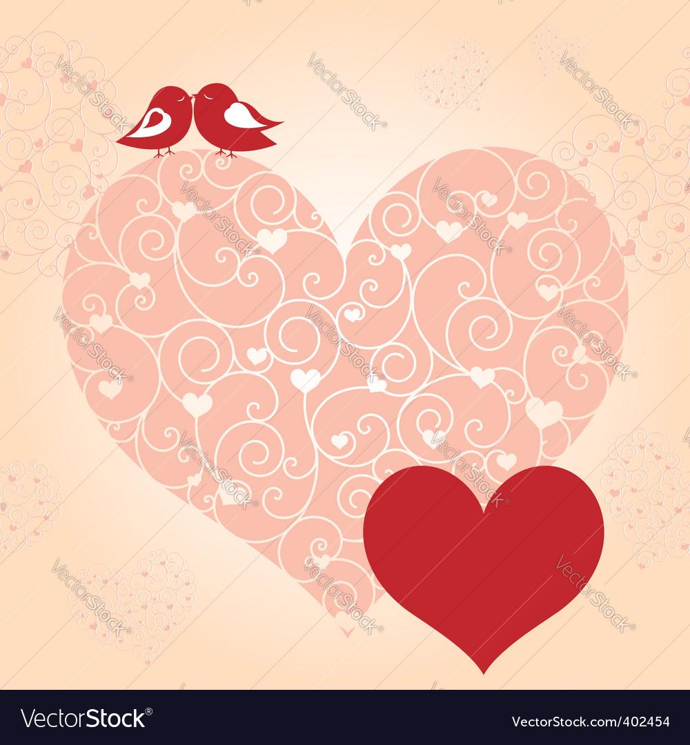 Lovebird greeting card vector