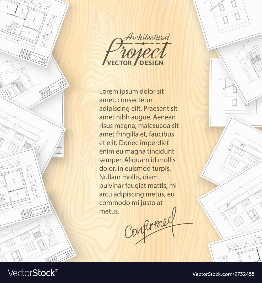 Architecture bluerints vector