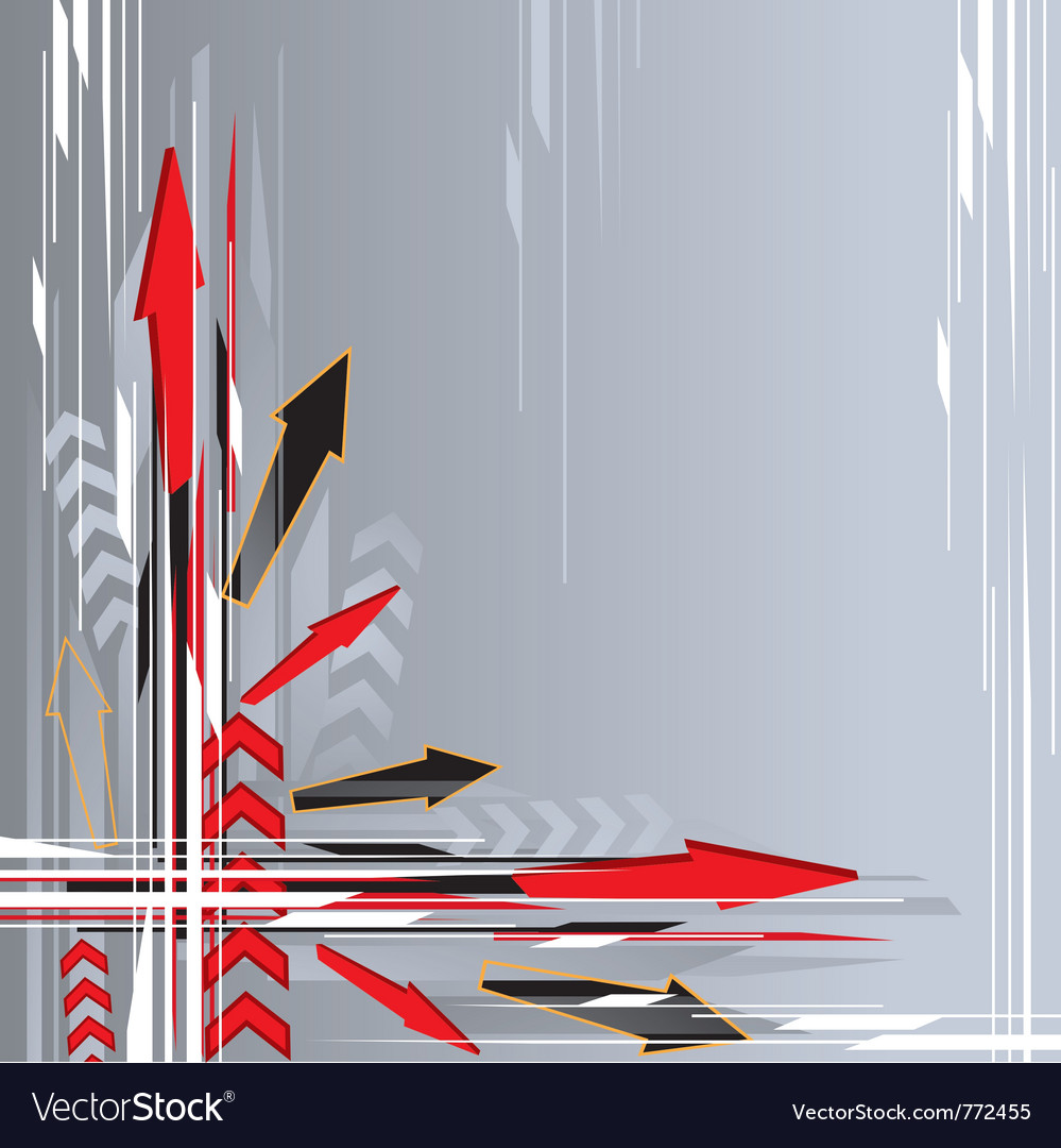 Arrow background vector