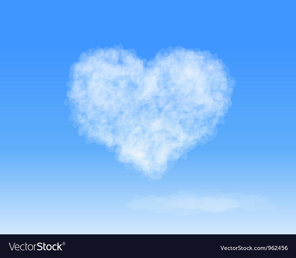 Heart cloud vector