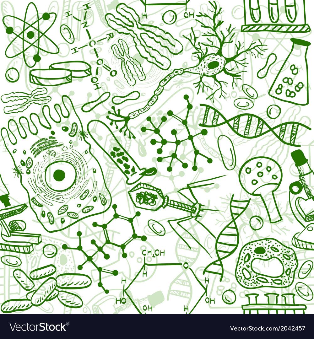 Biology drawings vector