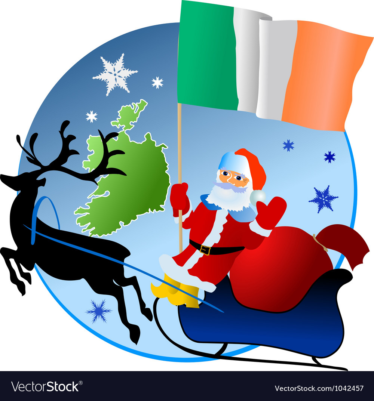 Merry christmas ireland vector
