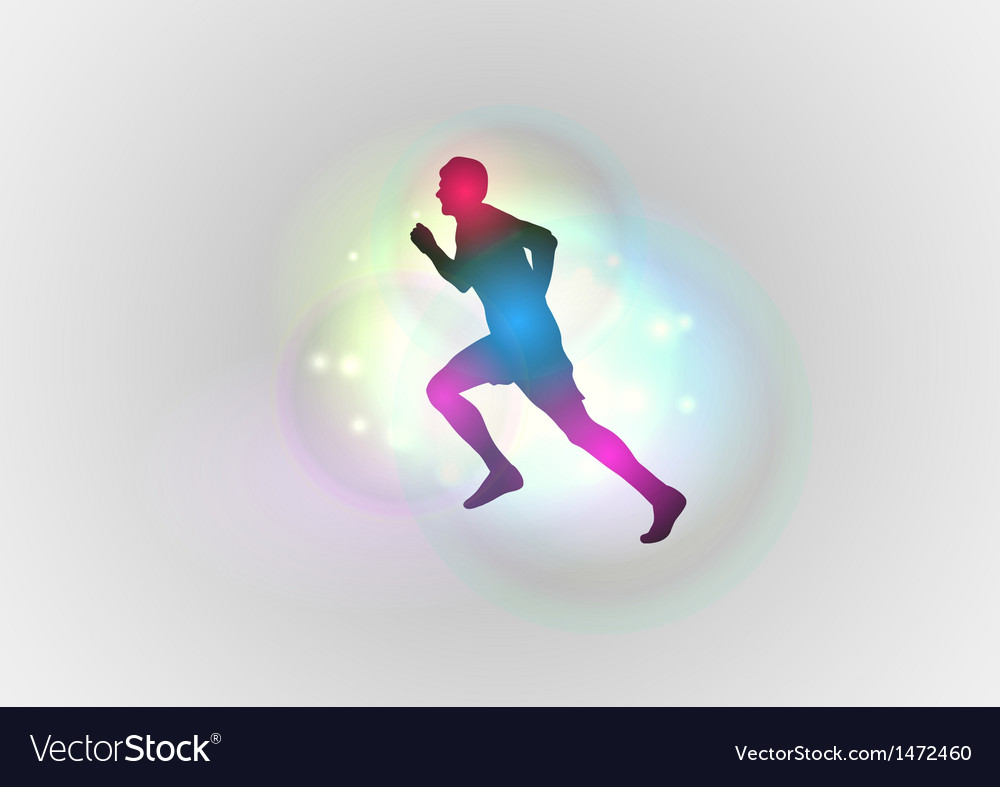 Sport abstract runner left vector