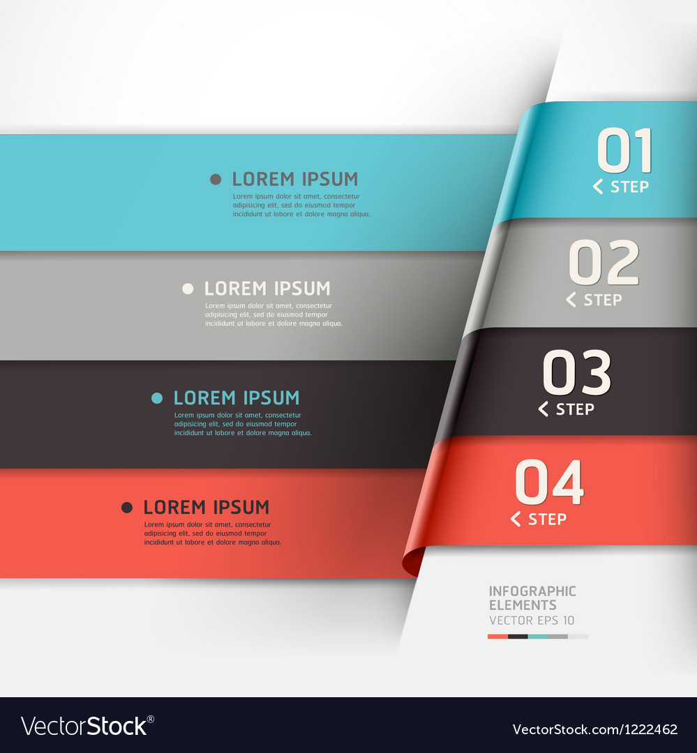 Modern step options banner vector