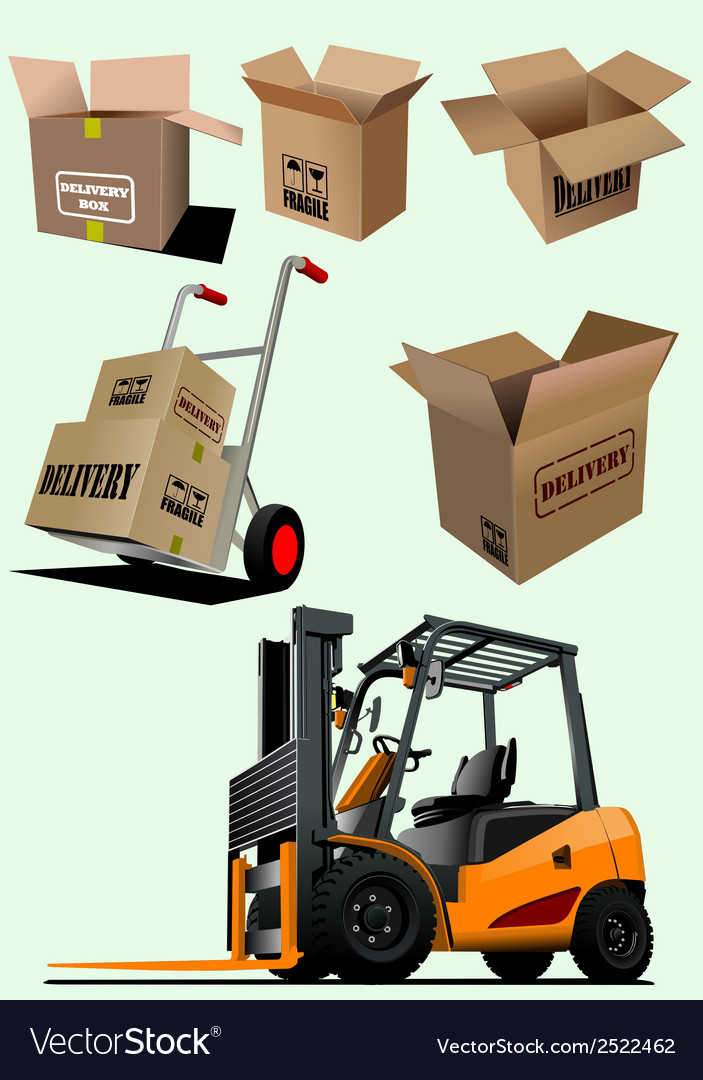 Packaging elements vector