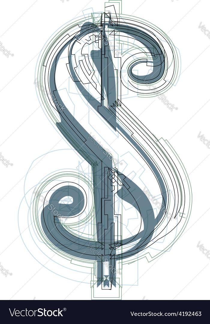 Abstract dollar symbol vector