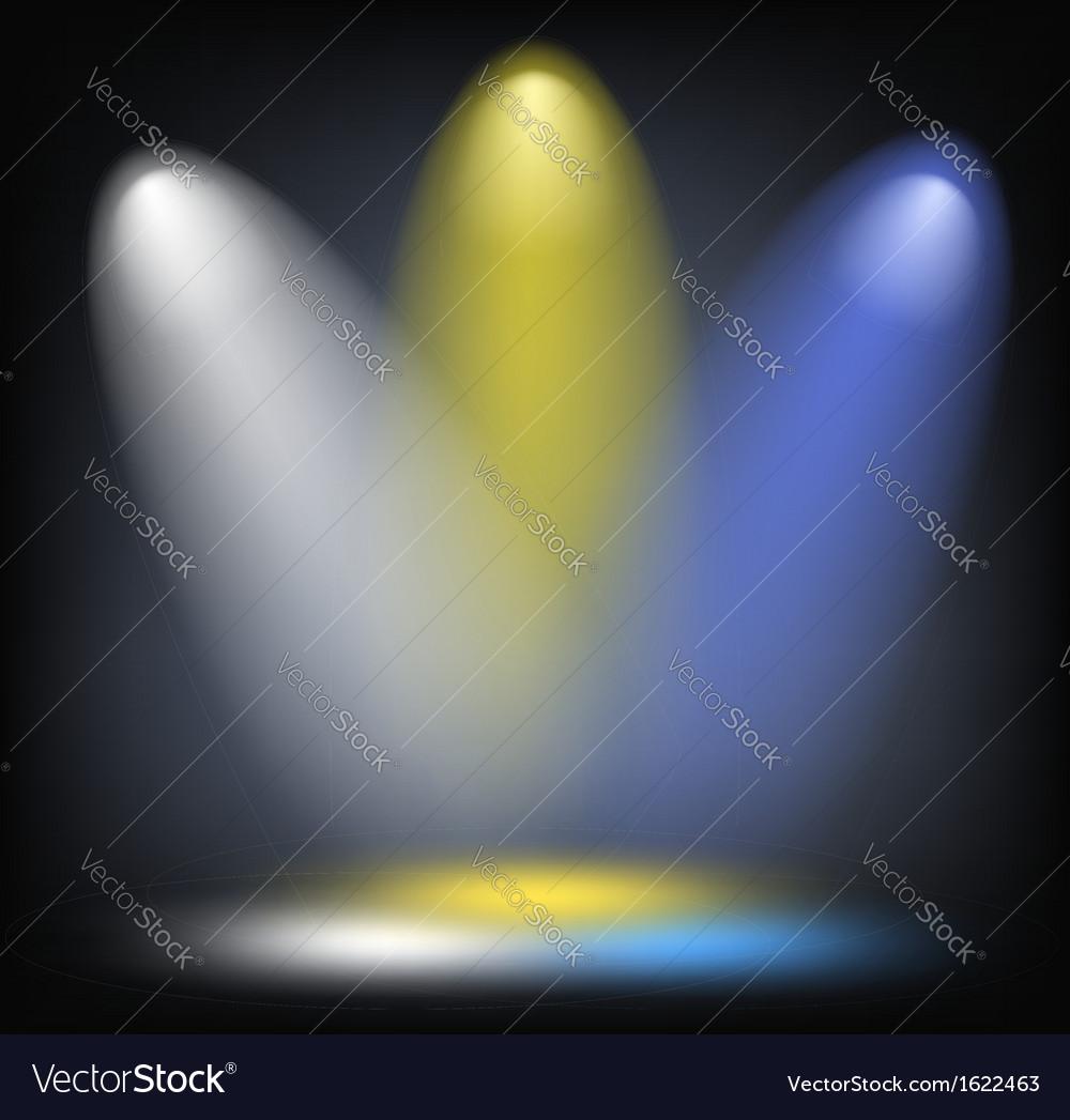 Lighting background vector