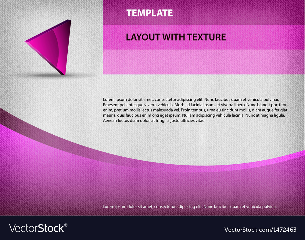 Template purple curve vector