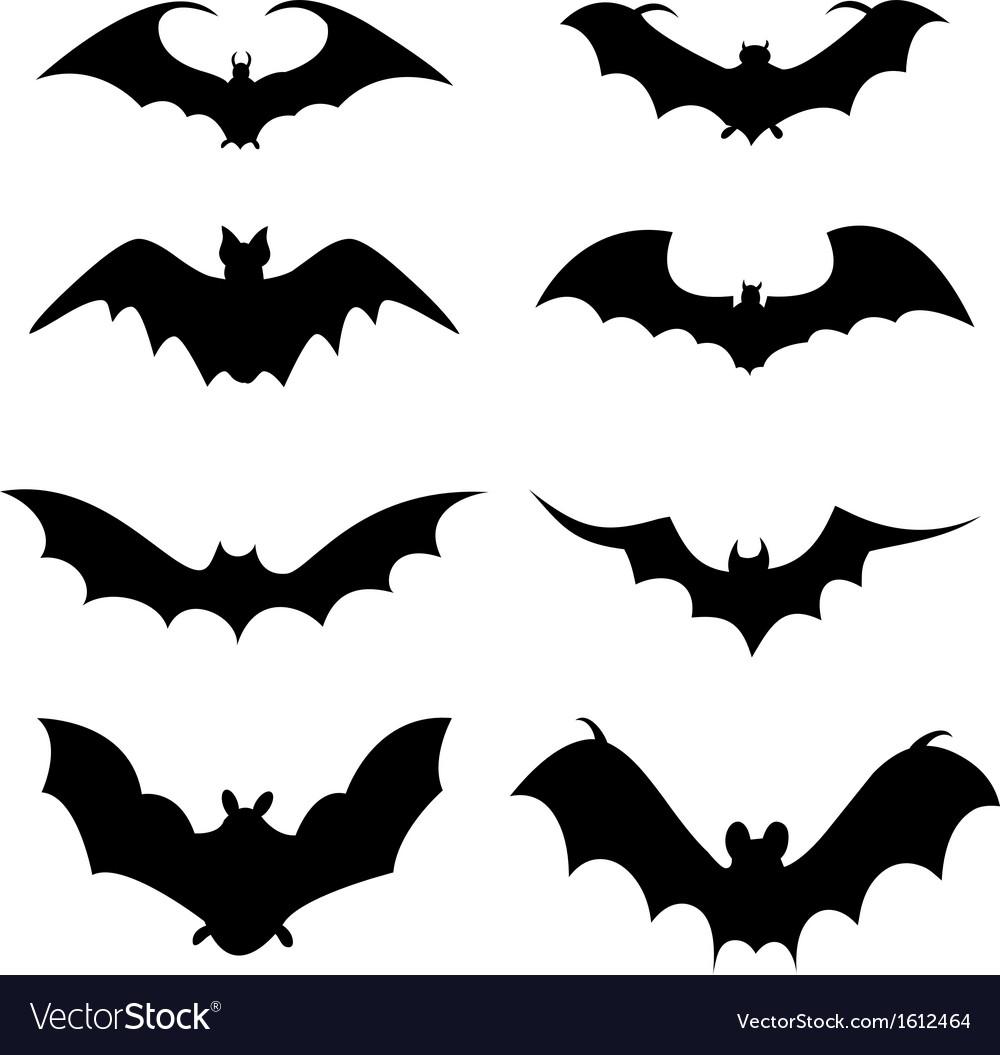 Bat icons vector