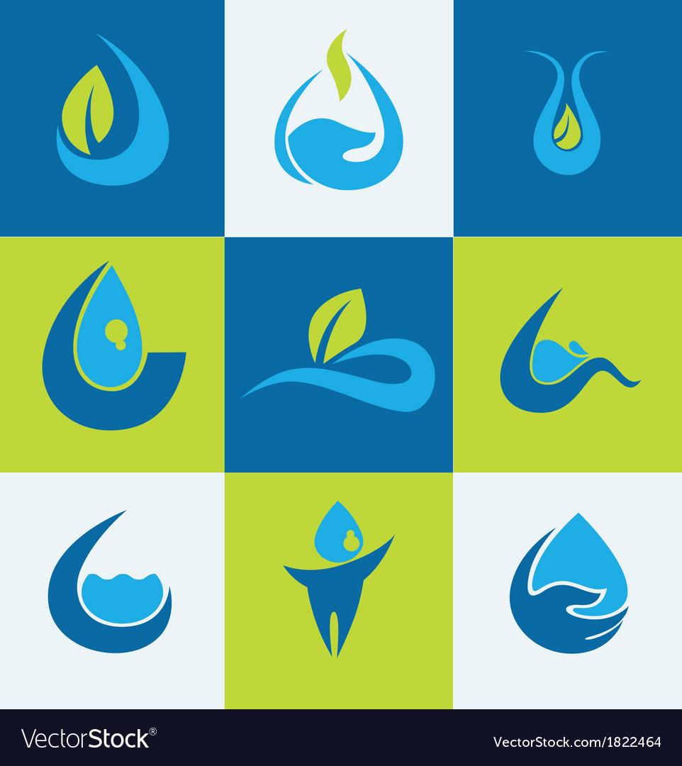 Water signs vector