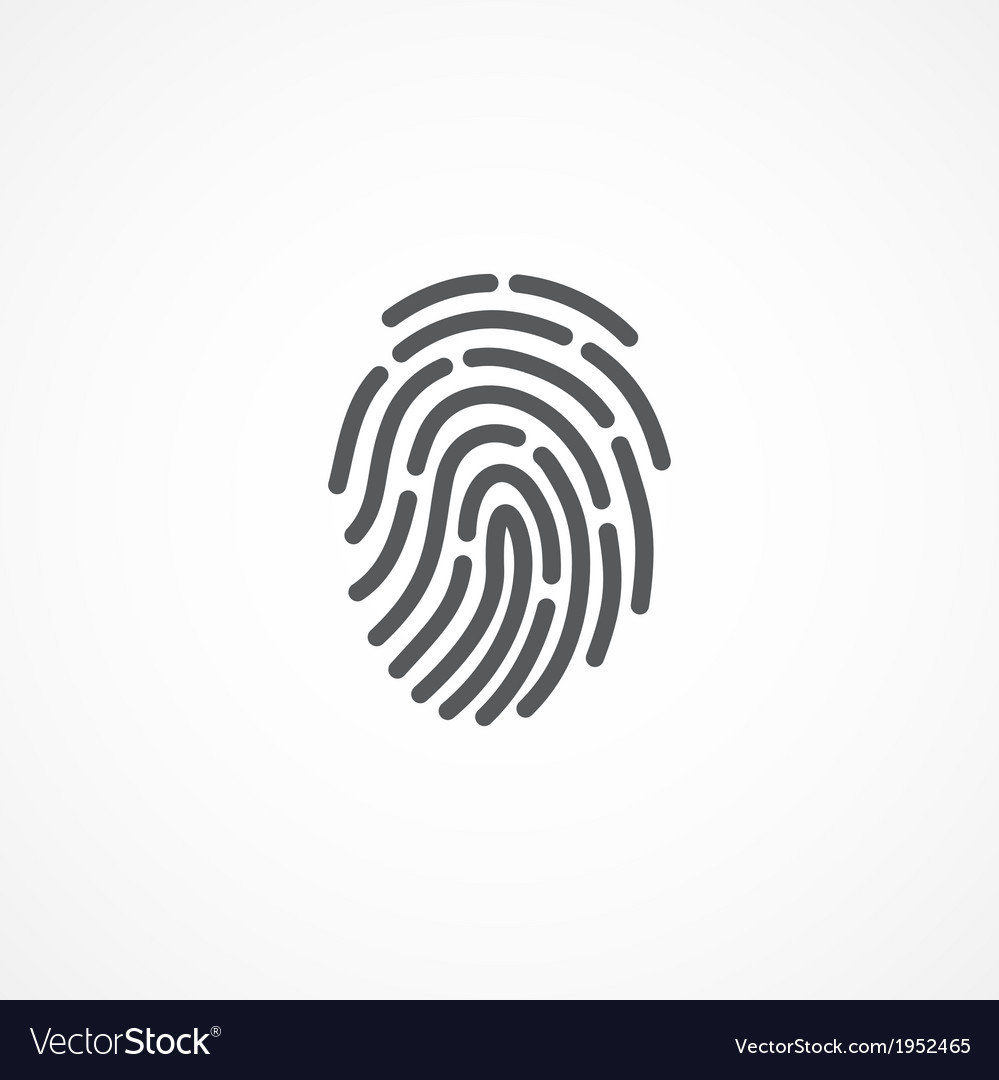 Fingerprint icon vector