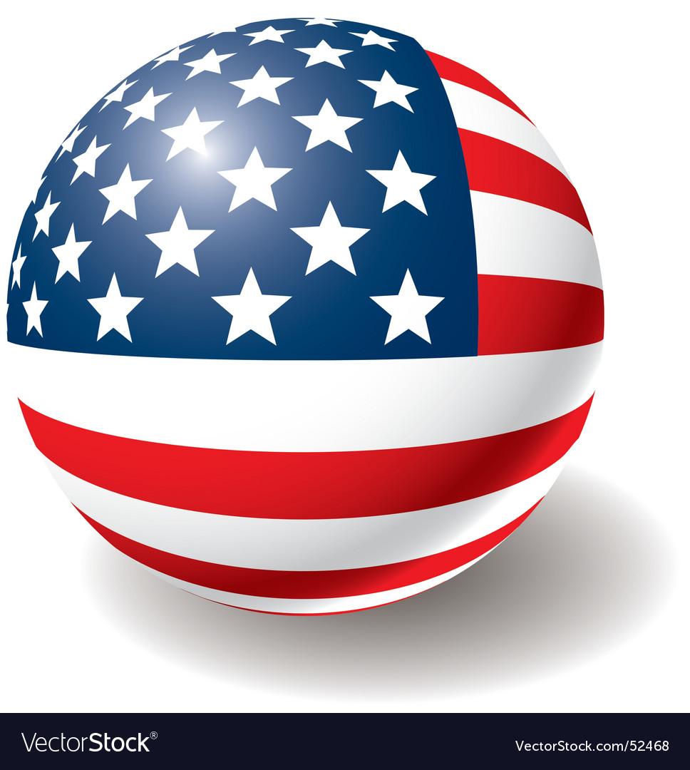 Usa flag texture on ball vector