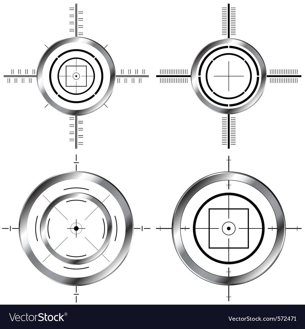 Gun sights vector
