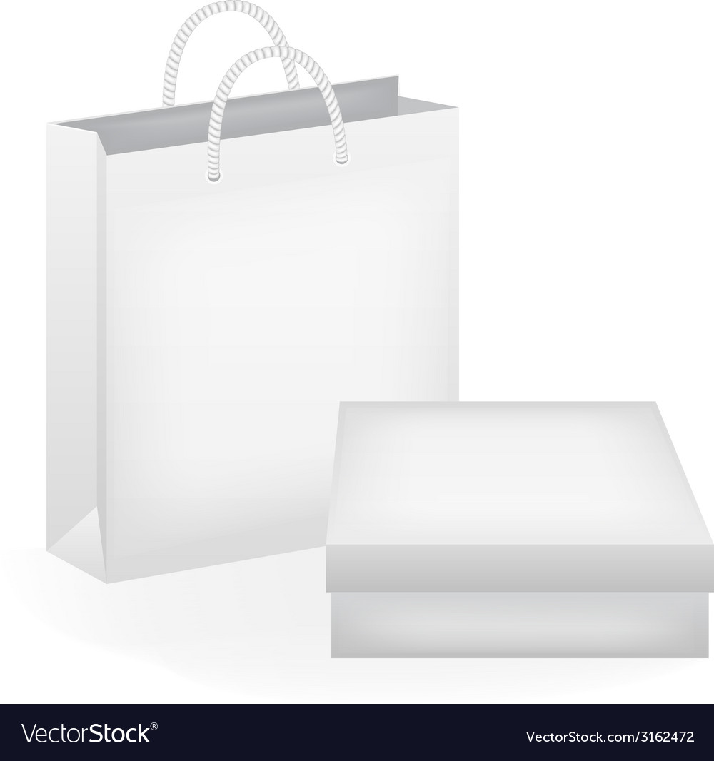 Paper bag and box vector