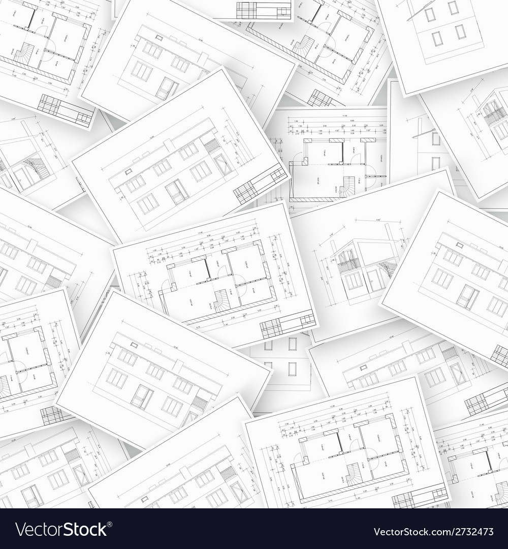 Collage architecture vector