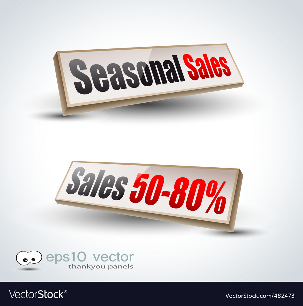 Retail panels vector