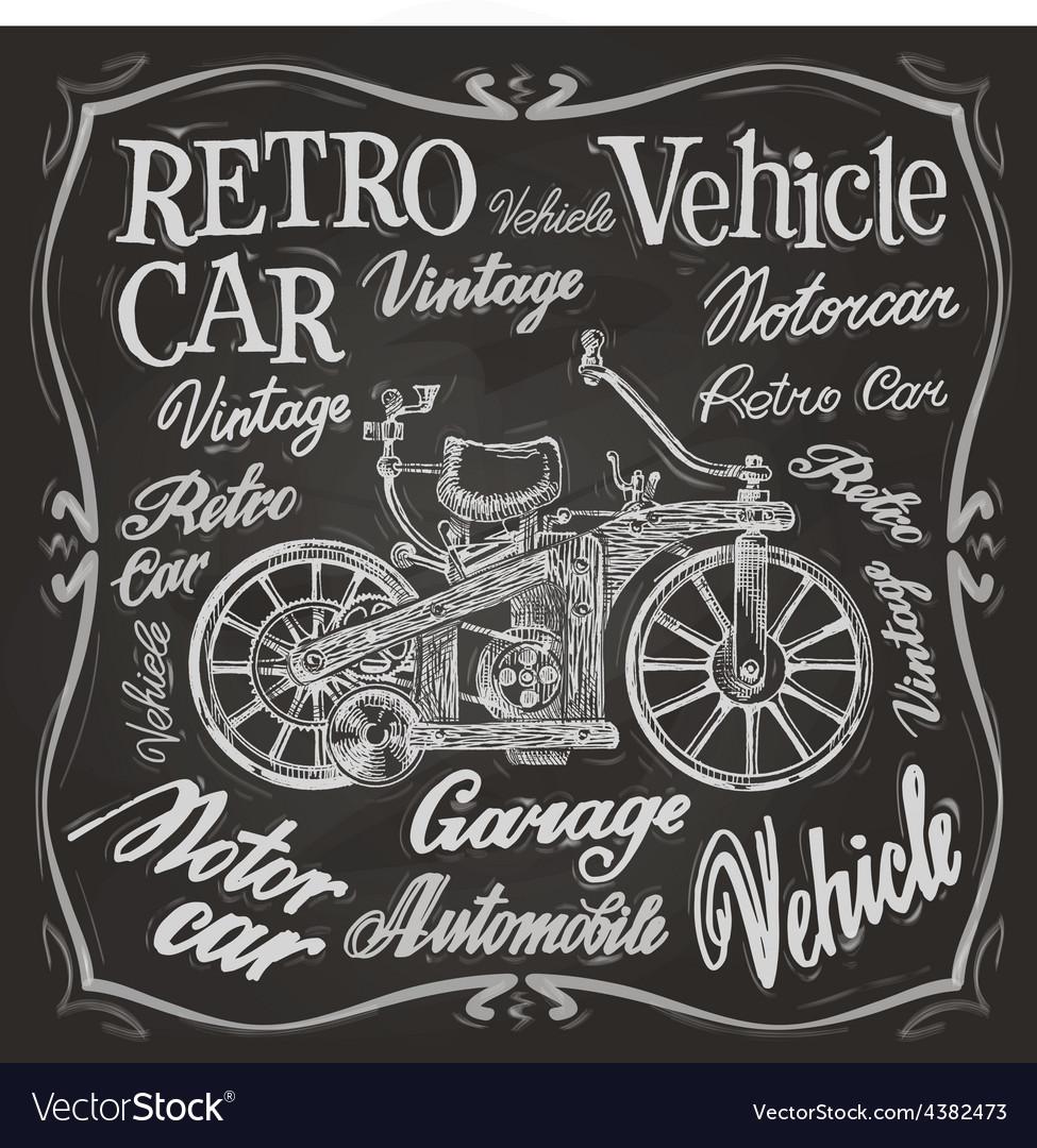 Retro car logo design template vehicle or vector