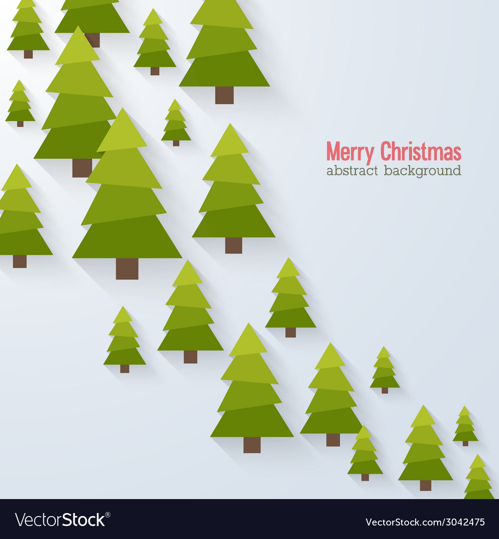 Abstract background with christmas trees vector