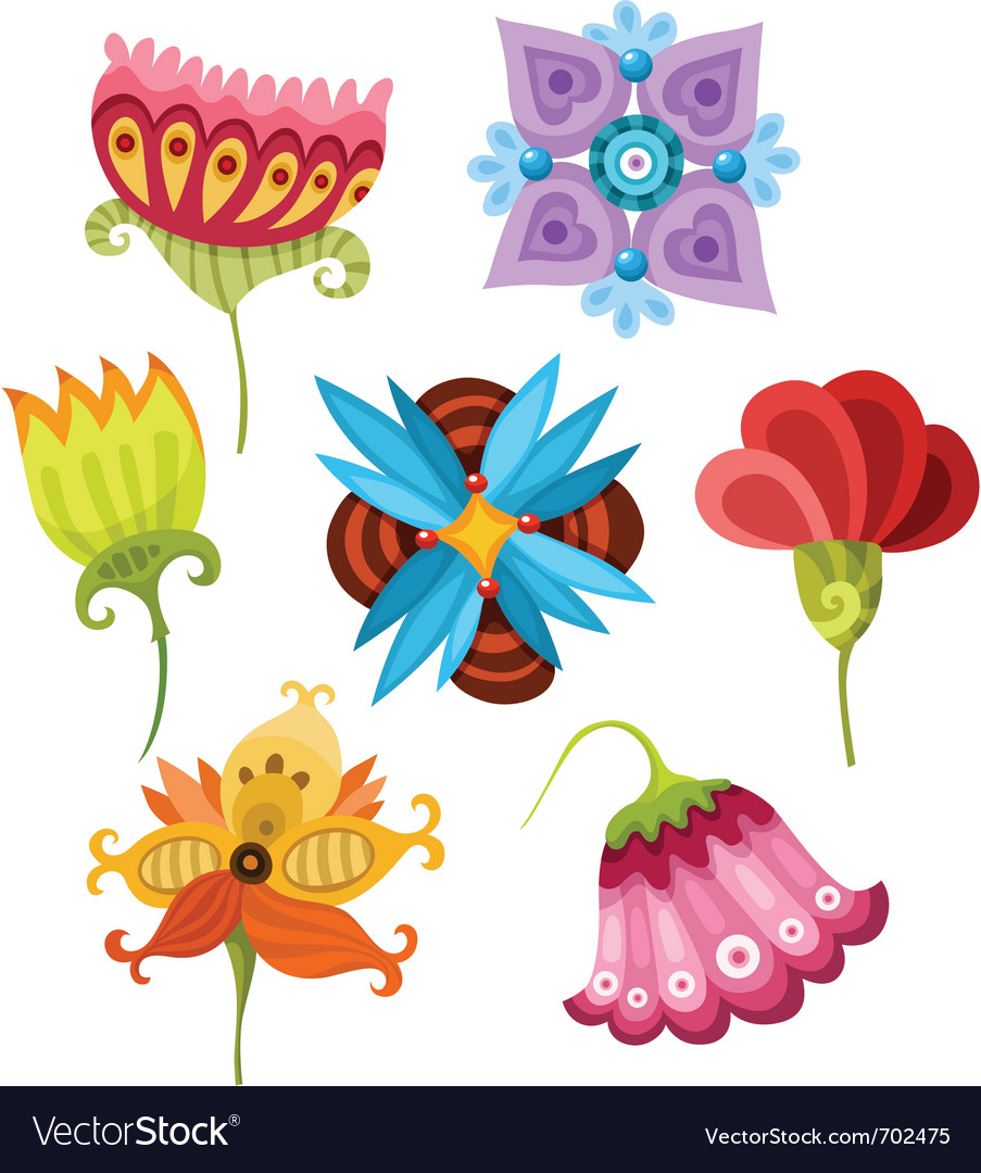 Flower set vector