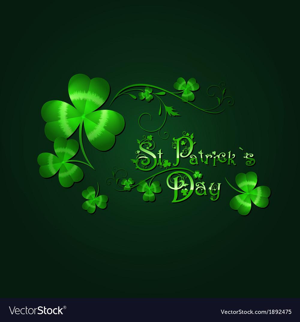 Saint patrick day background vector