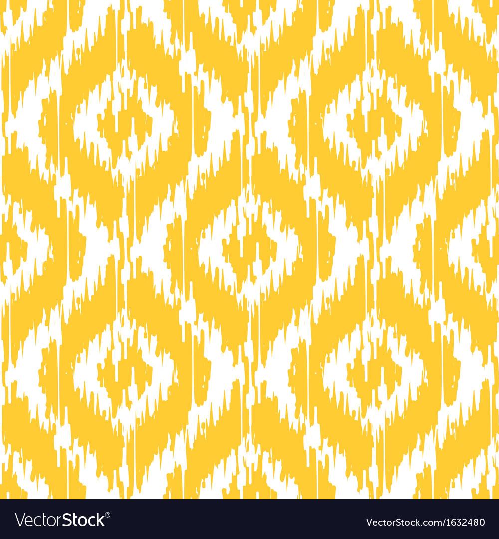 Yellow ikat ogee vector