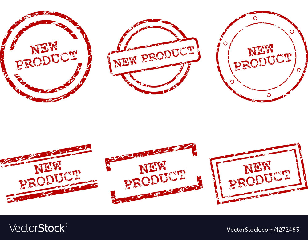 New product stamps vector