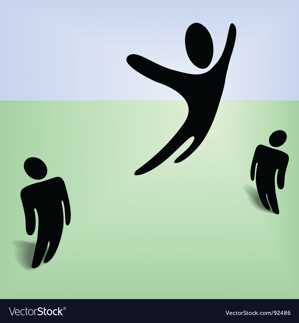 Flying person vector