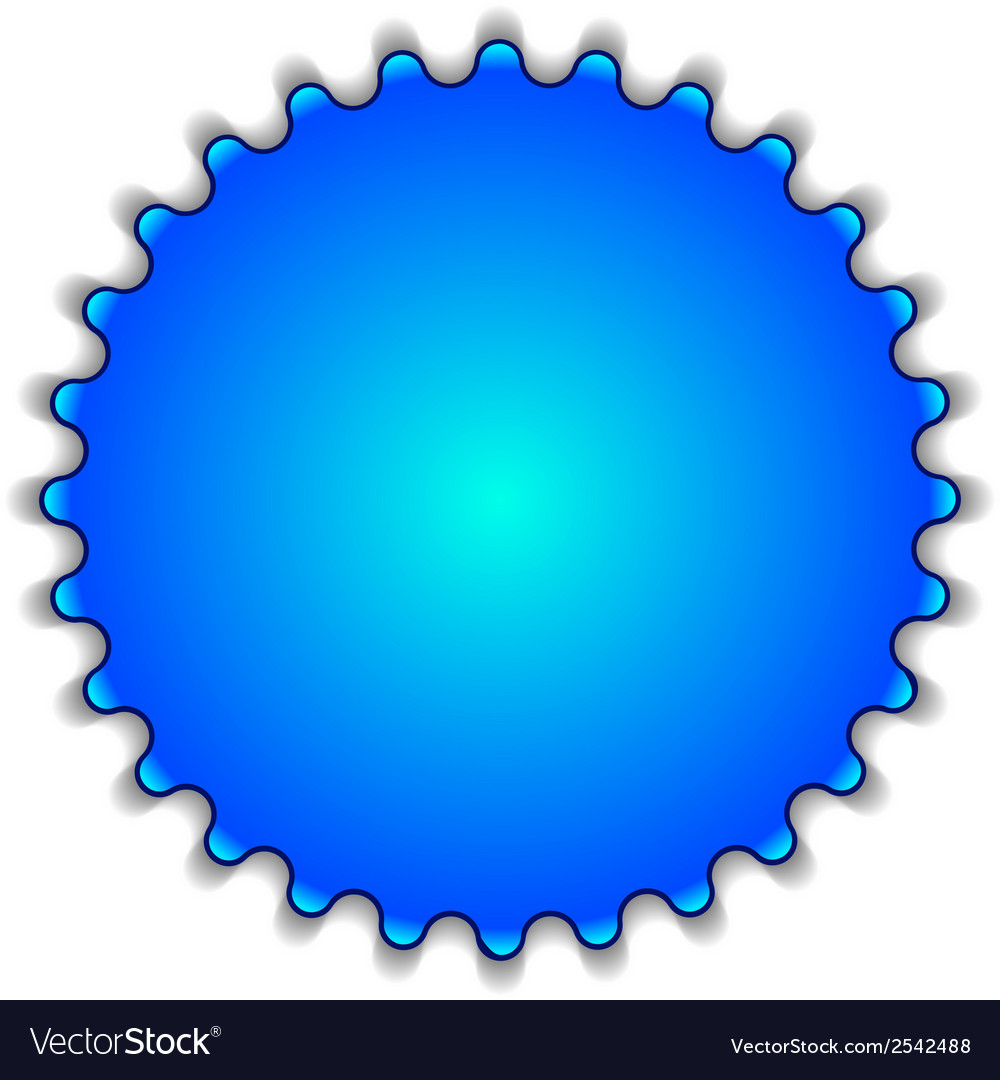 Big blue button labeled www vector