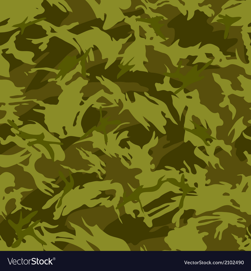 Jungle camouflage seamless pattern vector