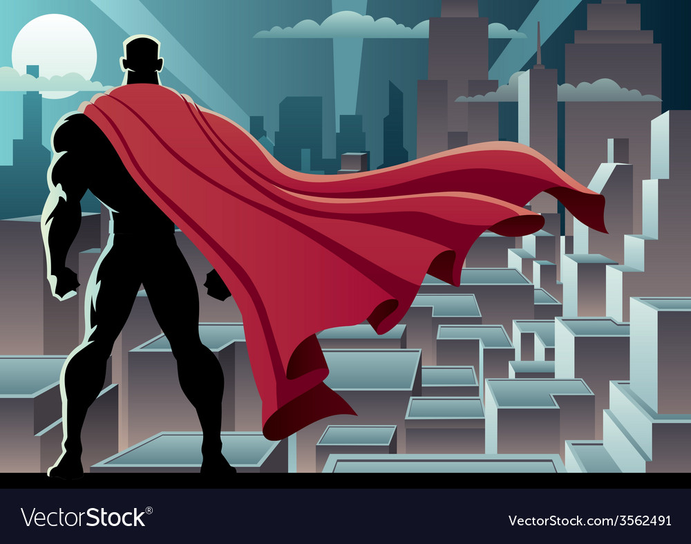 Superhero watch 3 vector