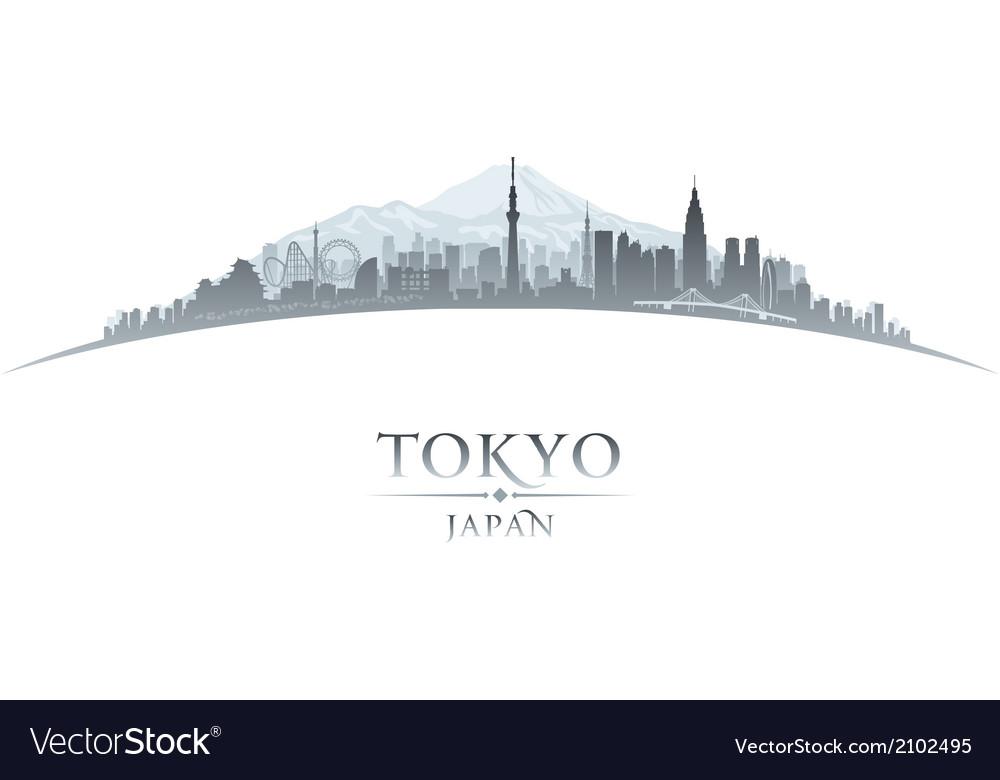 Tokyo japan city skyline silhouette vector