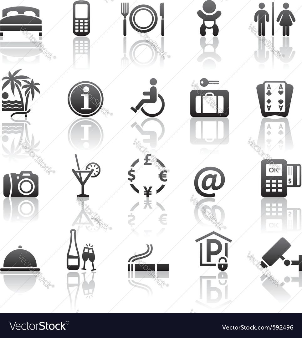 Pictograms hotel services vector