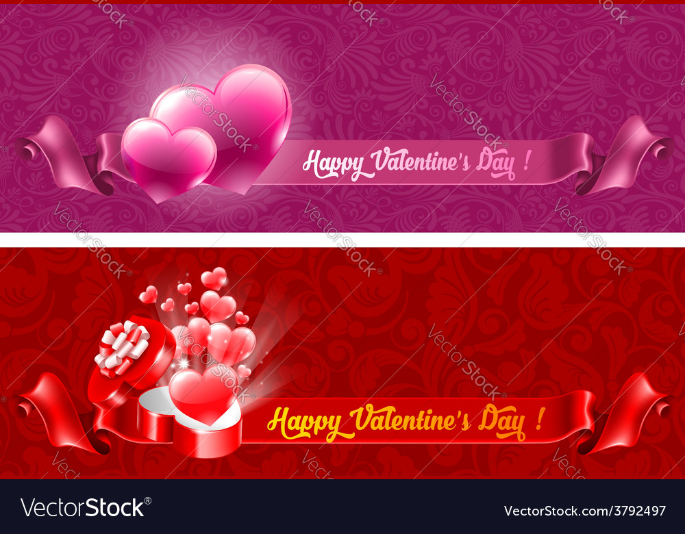 Beautiful background on valentines day vector