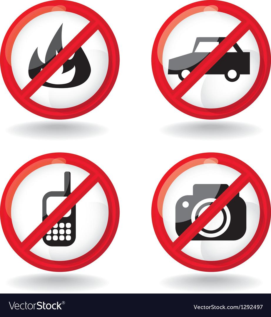 Set of do not allowed symbols - vector