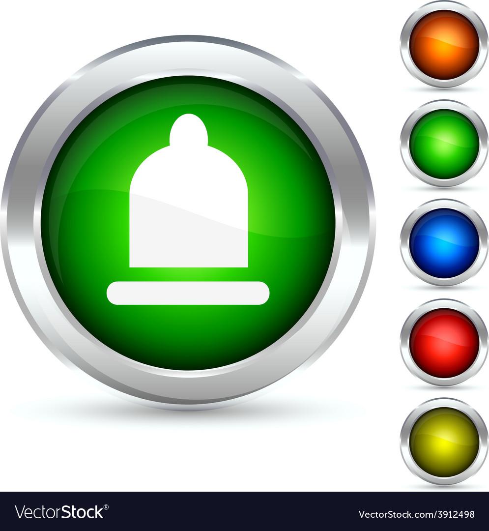 Safety button vector